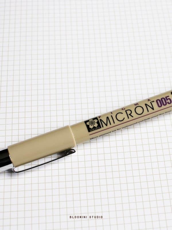 pigma-micron-stylo-micron-005-noir-Sakura-Pigma-Micron-gel-pen-bullet-journal-bloomini-studio