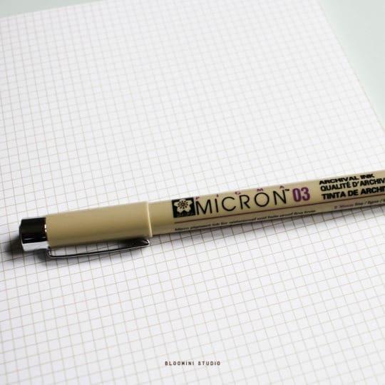 pigma-micron-stylo-micron-03-noir-Sakura-Pigma-Micron-gel-pen-bullet-journal-bloomini-studio