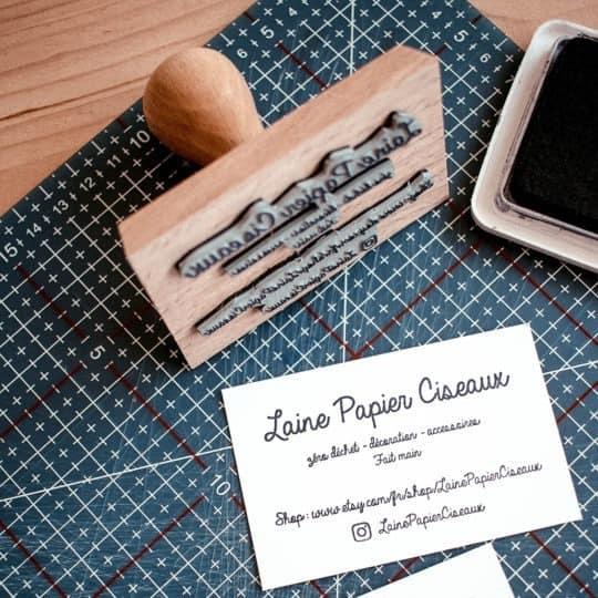 fabrication-tampon-bois-carte-de-visite