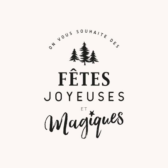 Tampon joyeuses fêtes