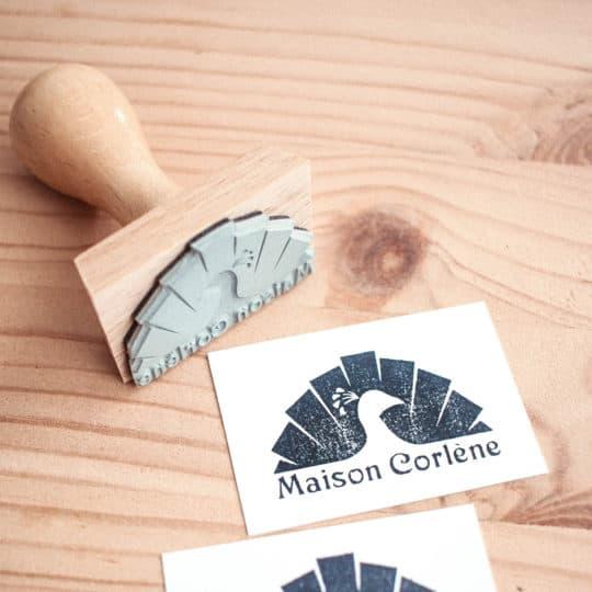 tampon-logo-encre-maison-corlene