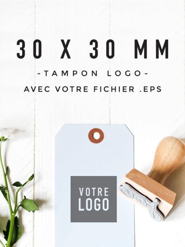 Tampon Logo 30x30 encreur BLOOMINI STUDIO