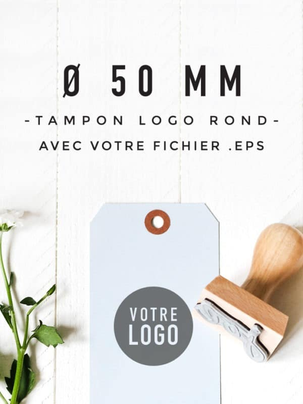 Tampon Logo rond 50 BLOOMINI STUDIO