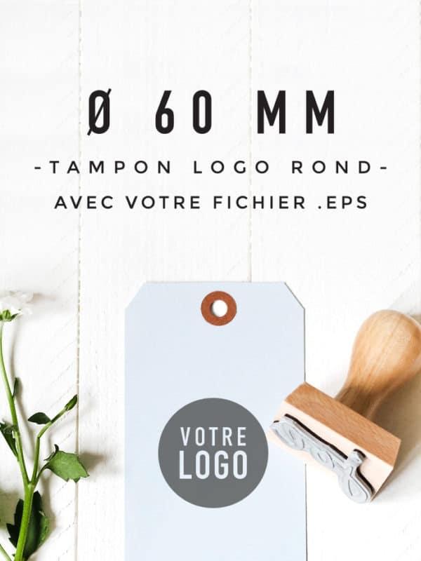 Tampon Logo rond 60 BLOOMINI STUDIO