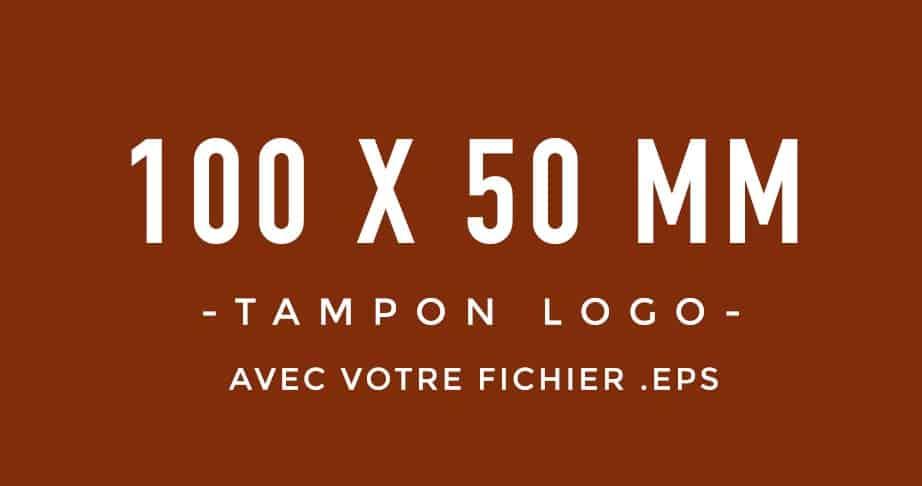 Tampon Logo 100x50 bois encreur BLOOMINI STUDIO