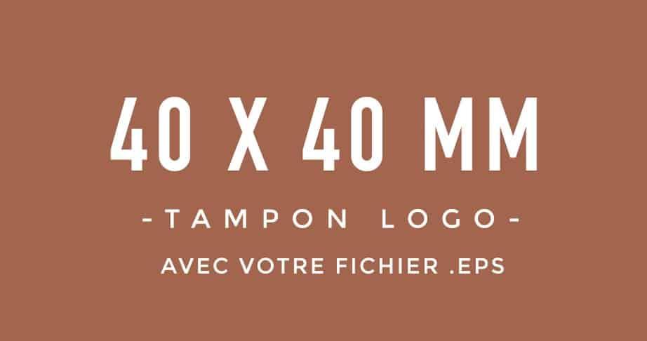 Tampon Logo 40x40 bois encreur BLOOMINI STUDIO