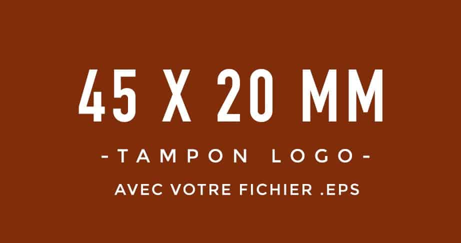 Tampon Logo 45x20 bois encreur BLOOMINI STUDIO