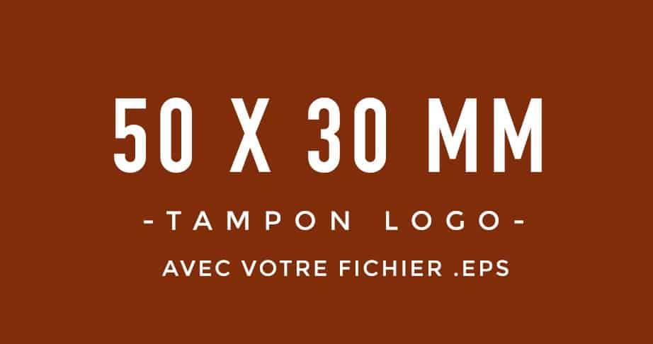 Tampon Logo 50x30 bois encreur BLOOMINI STUDIO