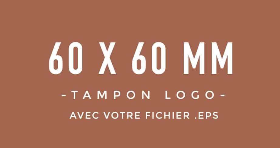 Tampon Logo 60x60 bois encreur BLOOMINI STUDIO