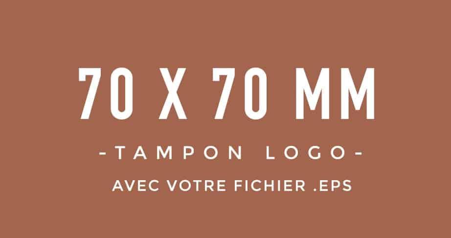 Tampon Logo 70x70 bois encreur BLOOMINI STUDIO