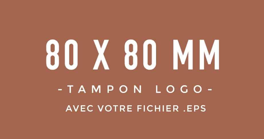 Tampon Logo 80x80 bois encreur BLOOMINI STUDIO