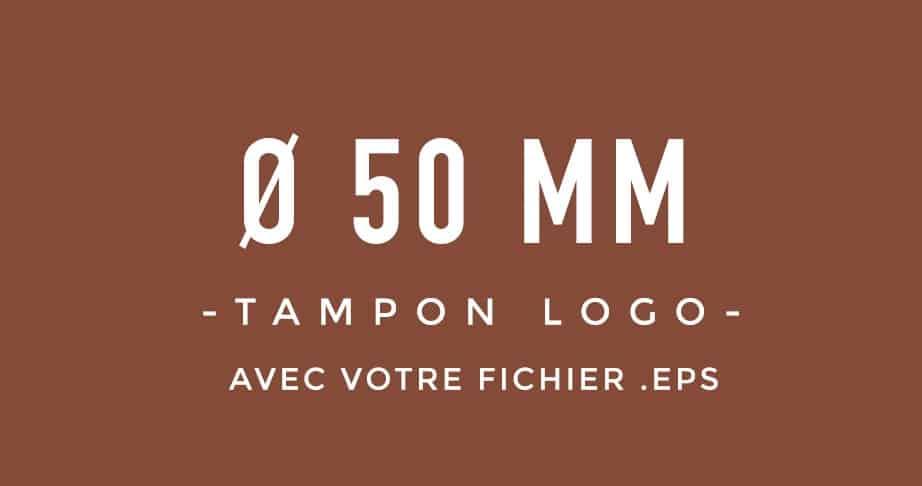 Tampon Logo rond 50 bois encreur BLOOMINI STUDIO