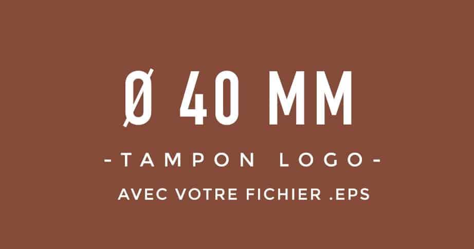 Tampon Logo rond 40 bois encreur BLOOMINI STUDIO